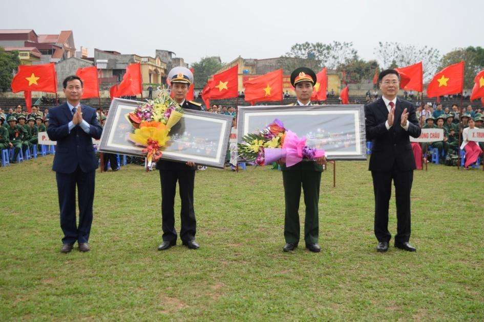 Thành phố Hưng Yên tổ chức lễ giao nhận quân năm 2019